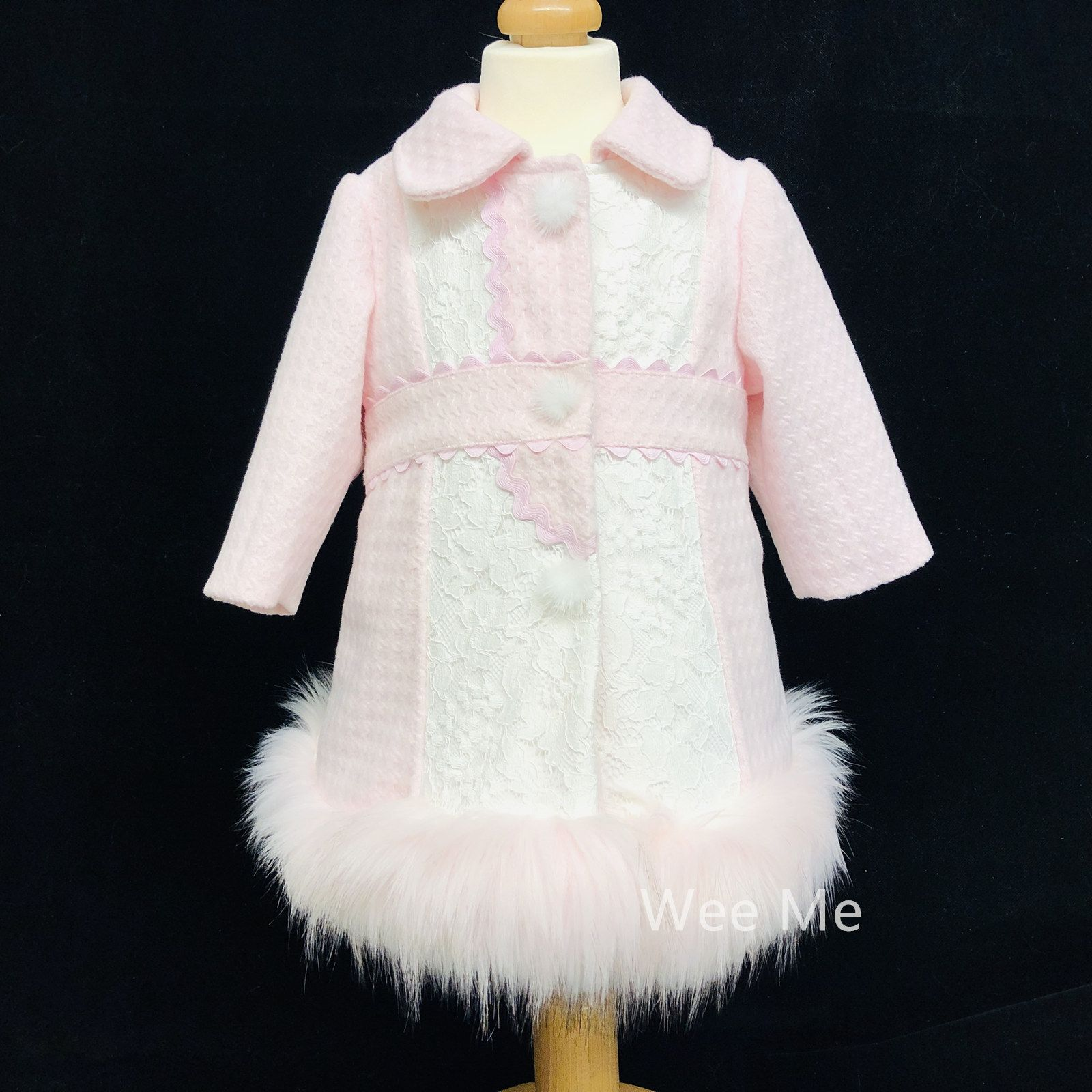 833bbd432 New Arrival Baby Girl Stunning Winter Coat with Fur Bottom